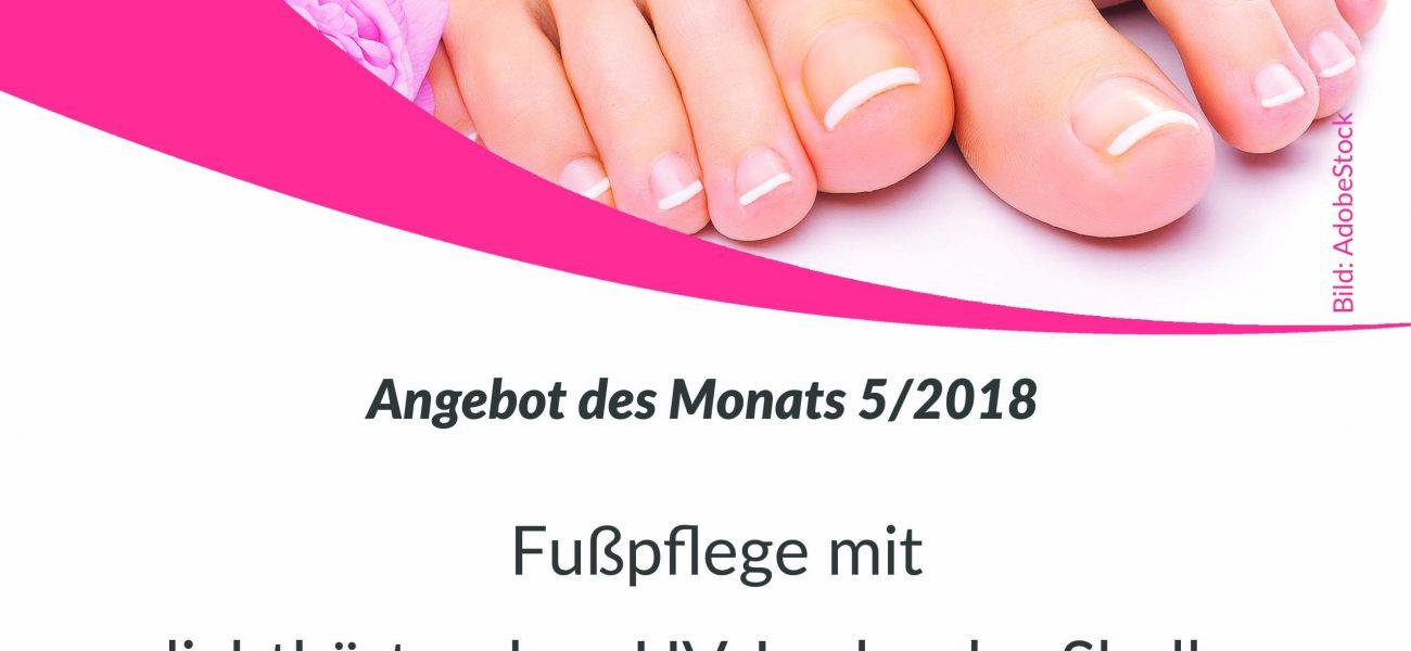 Monatsaktion 5/2018 – Fußpflege mit lichthärtendem UV-Lack oder Shellac für 40 Euro